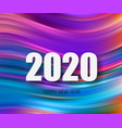 2020 modern colorful flow poster wave liquid vector image vector image