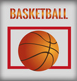 a colored background with a basketball ball vector image vector image
