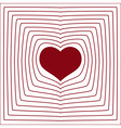 abstract line heart love symbol white background vector image vector image