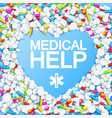 abstract medication template vector image