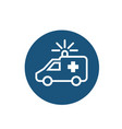 ambulance line icon on white background vector image