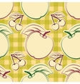 Apples and cherry vector image vector image