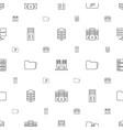 archive icons pattern seamless white background vector image vector image
