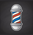 barber pole with red and blue spiral vector image vector image