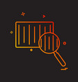 barcode scanner icon design vector image vector image