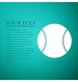 Baseball ball flat icon on blue background vector image vector image