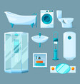 bathroom interior furniture and different vector image vector image