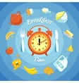 Breakfast Flat Composition vector image