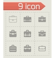 briefcase icon set vector image