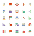 Building and Furniture Icons 15 vector image vector image