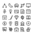 business and office line icons 10 vector image vector image