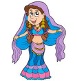 cartoon belly dancer vector image vector image