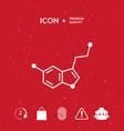 chemical formula icon serotonin vector image vector image