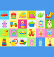 childrens toys big colorful set vector image vector image