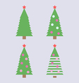 Christmas tree simple vector image vector image