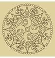 Circular ornament Round pattern mandala vector image vector image