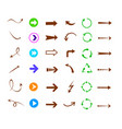 colorful arrows icon set vector image vector image
