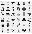 cosmetic icons set simple style vector image vector image
