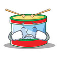 crying toy drum character cartoon vector image vector image