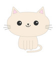 cute sitting cat icon funny cartoon character