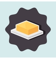 delicious butter isolated icon design vector image