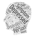 Depressive Disorders And Where To Find Help text vector image vector image