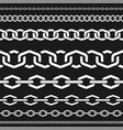 different scale chains protection seamless vector image vector image
