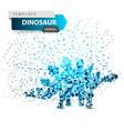 dino dinosaur - ice dot vector image vector image
