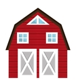 Farm barn building isolated icon vector image