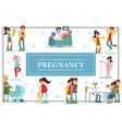 flat colorful pregnancy template vector image vector image