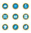 flatiron icons set flat style vector image vector image