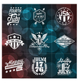 fourth july badges vector image