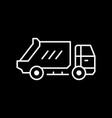 garbage truck line outline icon vector image