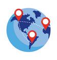 globe icon cartoon vector image
