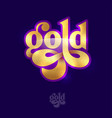 gold beautiful lettering jewelry logo glamour vector image vector image