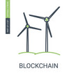 green energy icon wind electric power generator vector image vector image
