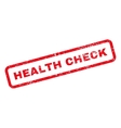 Health Check Text Rubber Stamp vector image vector image