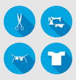 Household sign set Sewing machine hanger vector image
