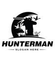 Hunter logo man logo design