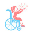 icon of disabled persons vector image vector image
