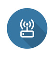 Internet Wi Fi Router Flat Design vector image vector image