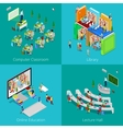 Isometric Educational Concept University Computer vector image vector image