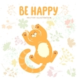 kitten be happy vector image vector image