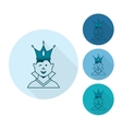 Little Boy With a Crown vector image