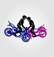 Man performing stunt on motorbike vector image vector image