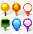 map markers vector image