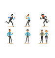 men and women police characters in different poses vector image