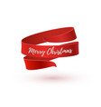 merry christmas greeting card brochure or poster vector image