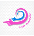 mothers day card with hand with text vector image vector image