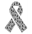 mourning ribbon icon shape vector image vector image